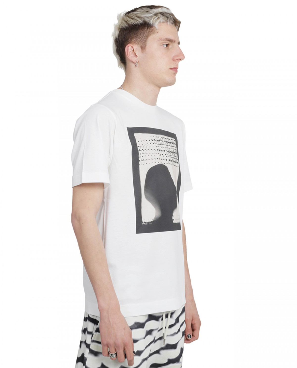 J.W.anderson black woven single knot t-shirt