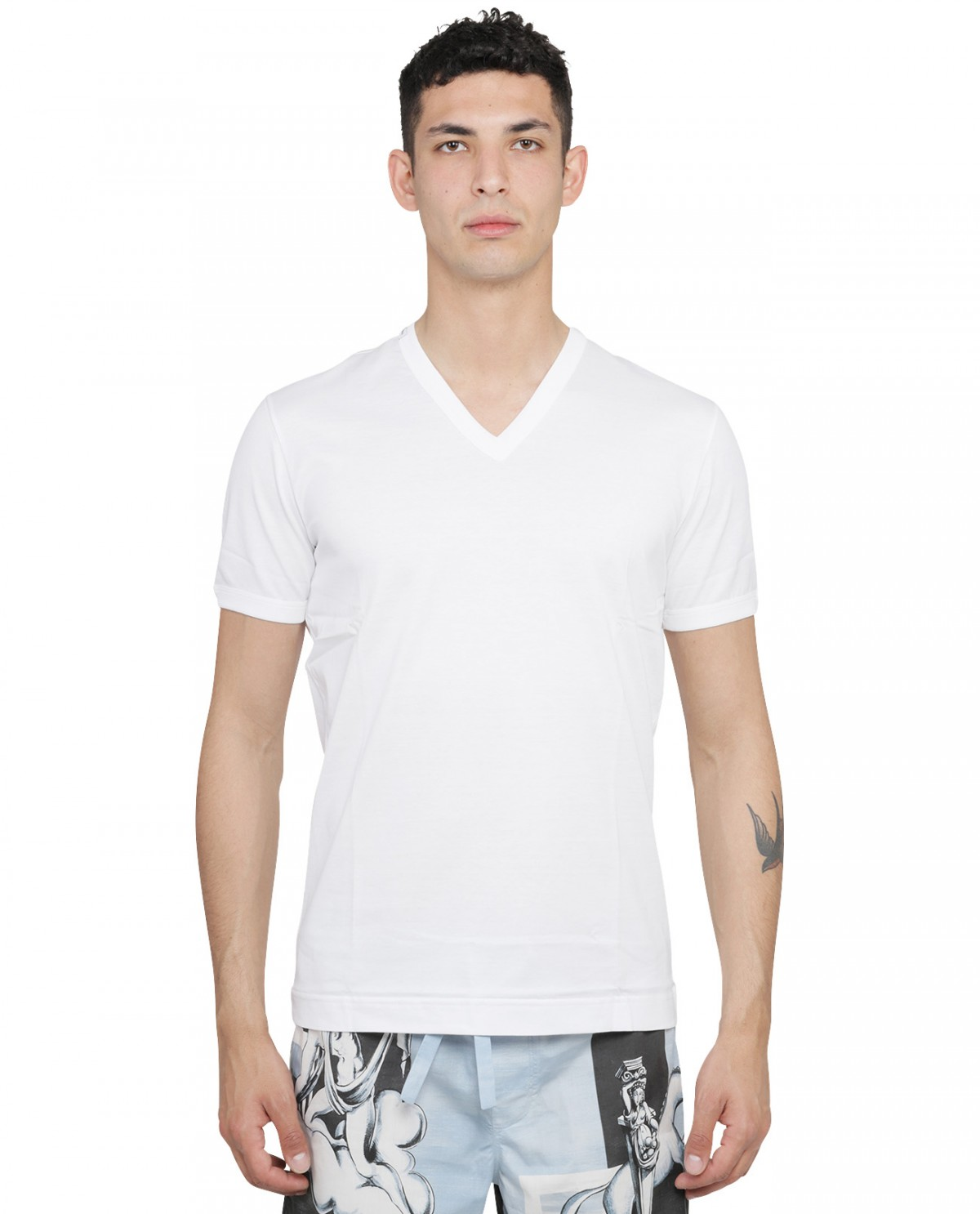 Marc Jacobs black multi cropped tee