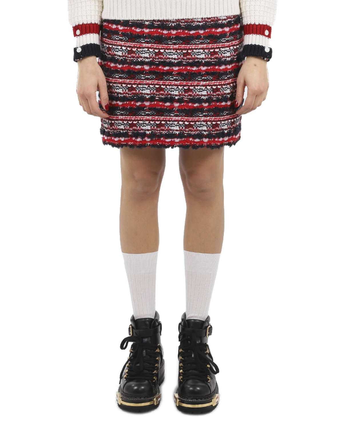 Thom Browne tweed mini skirt