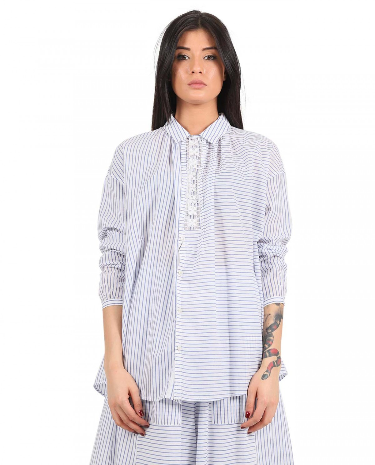 Zucca striped shirt with embroidery