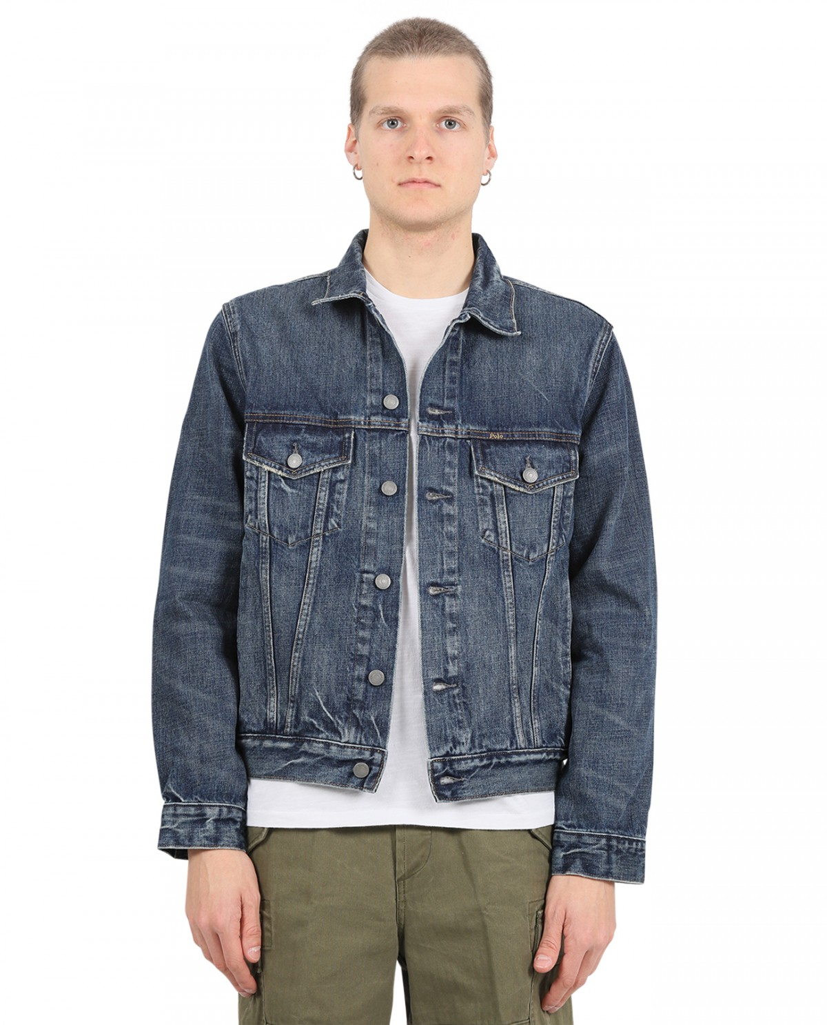 Thom Browne navy and red bomber