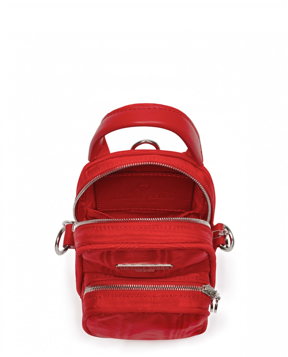 Marine Serre red mini pocket bag