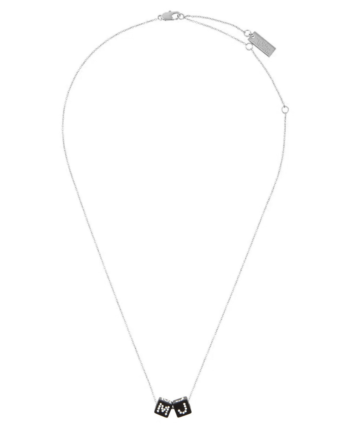 Marc Jacobs silver Toy Block necklace