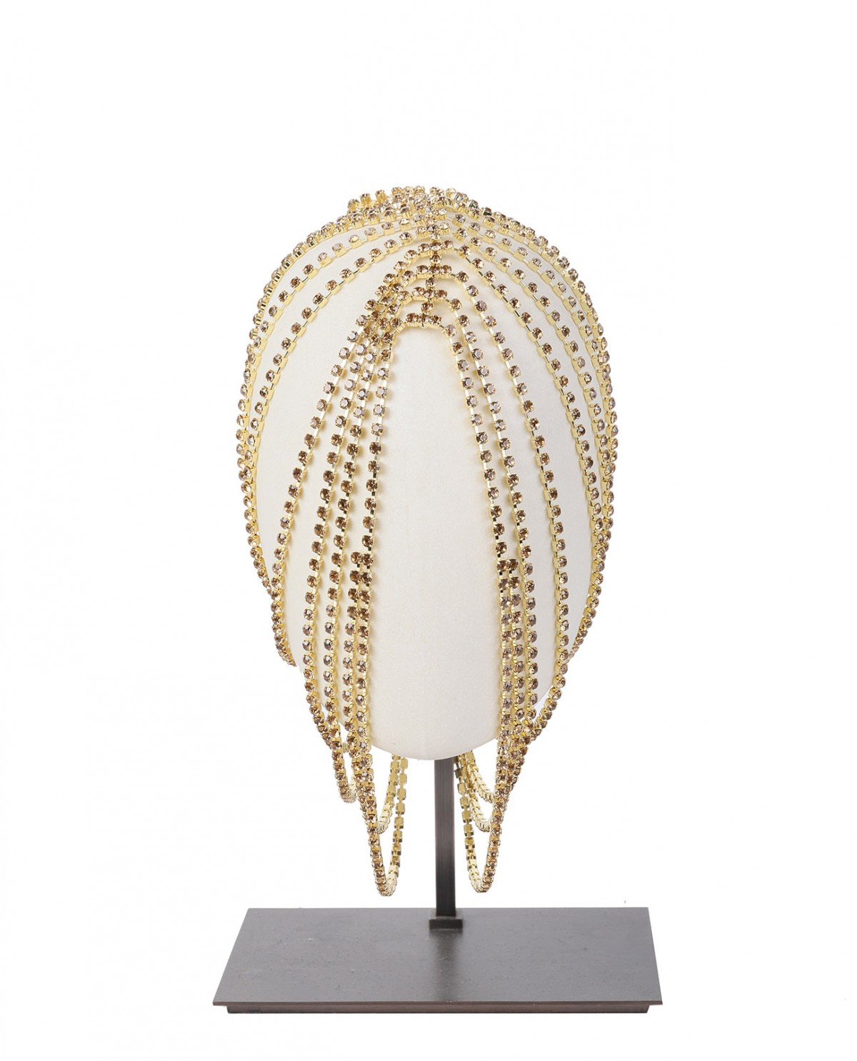 Area gold crystal hairpiece