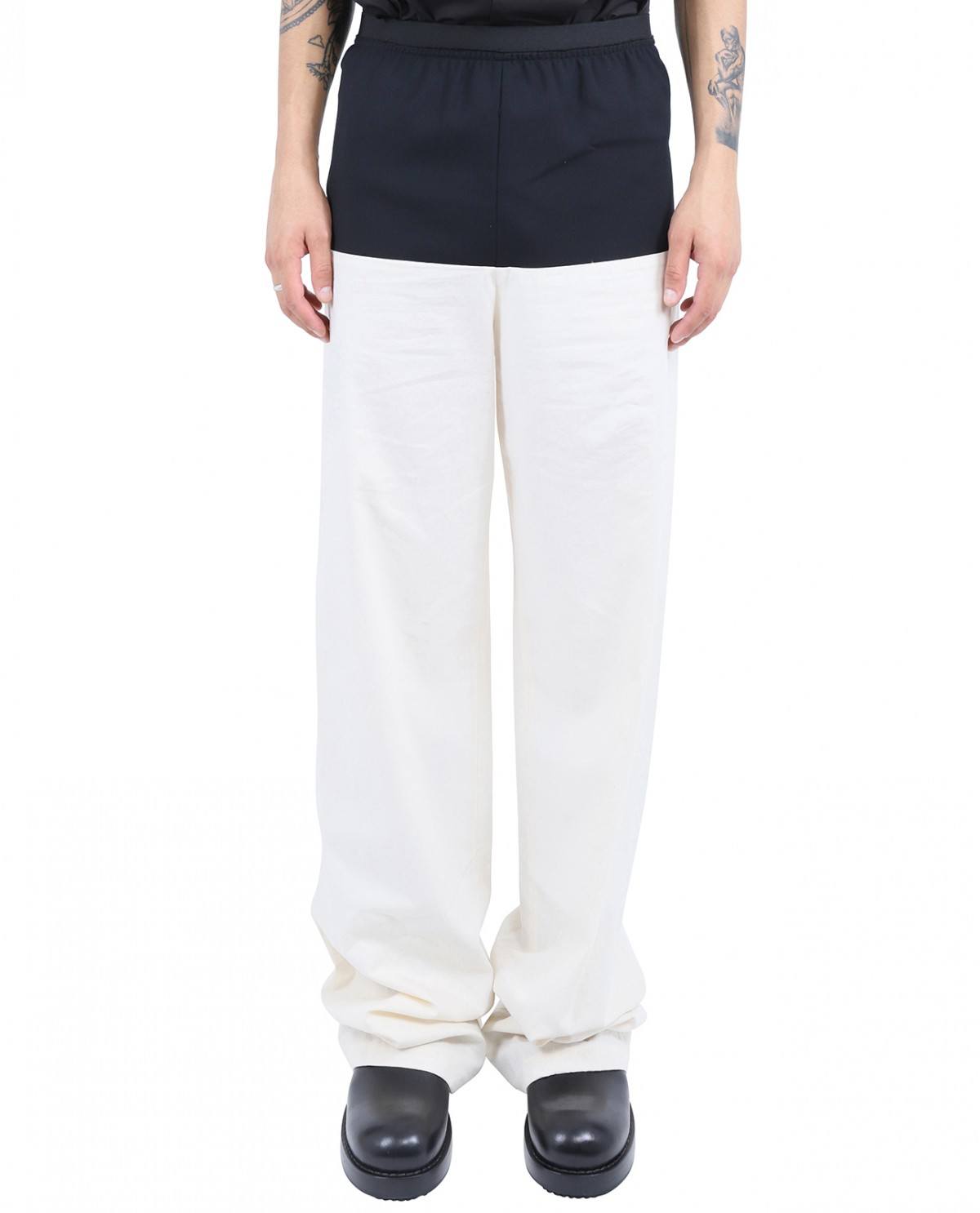 Raf Simons bi-coloured trousers