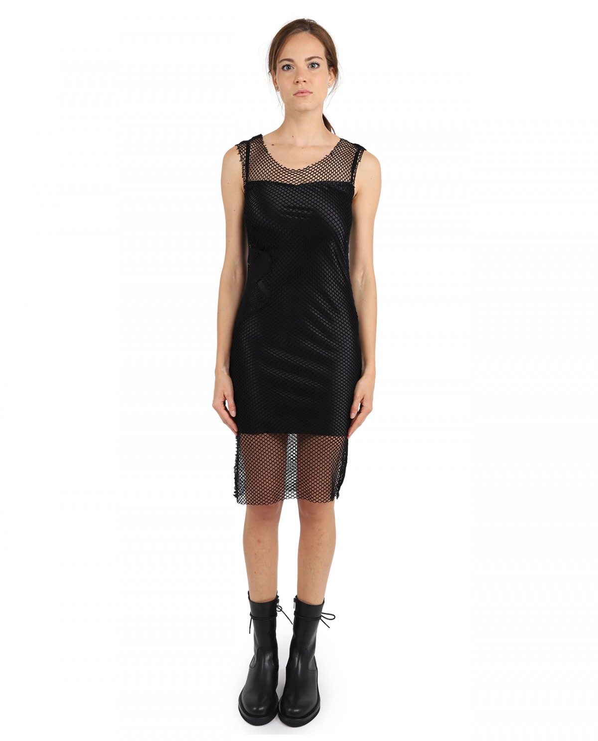 Ann Demeulemeester black net dress