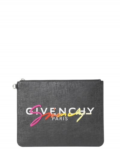 Givenchy black signature pouch