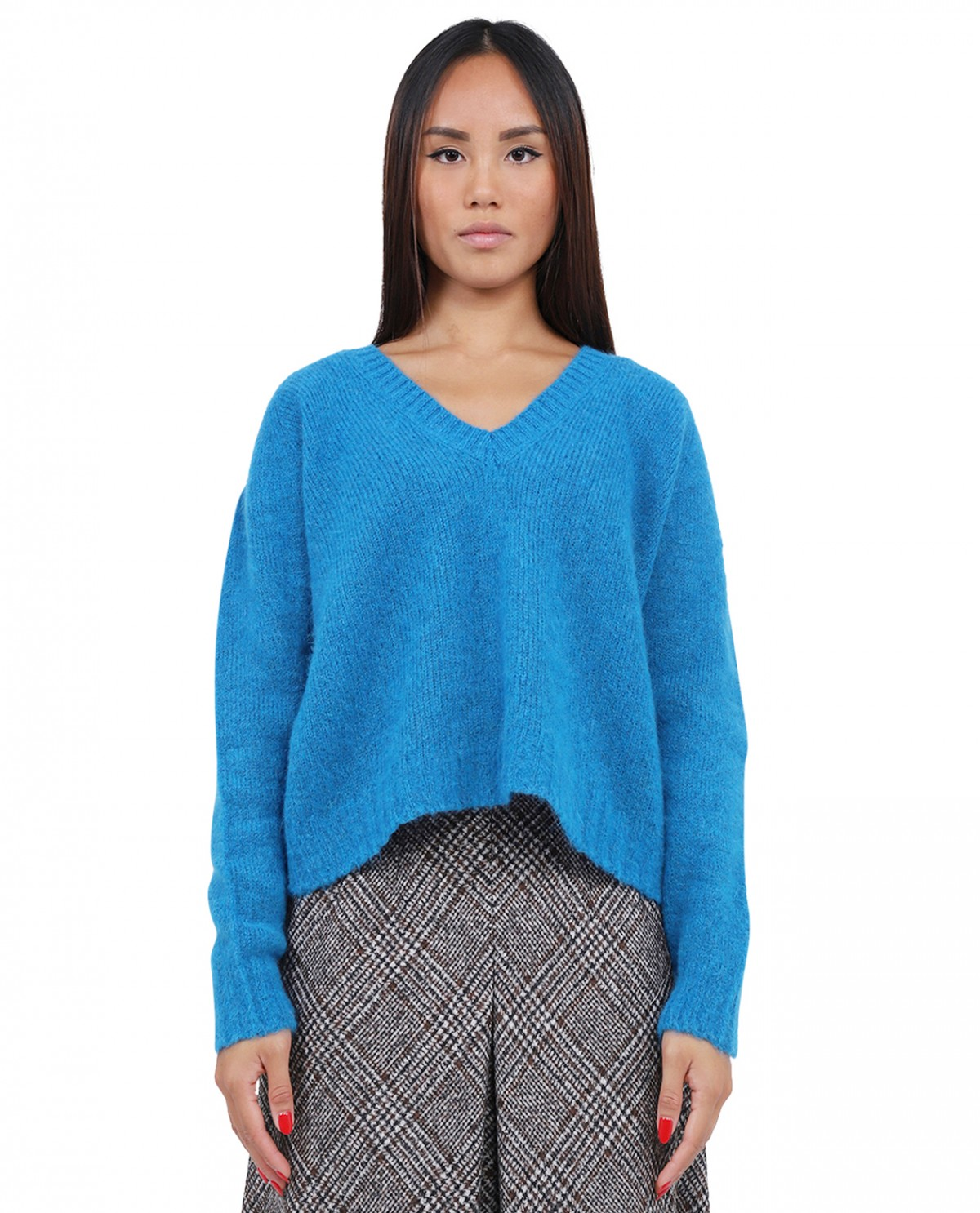 Oliver Lattughi blue sweater