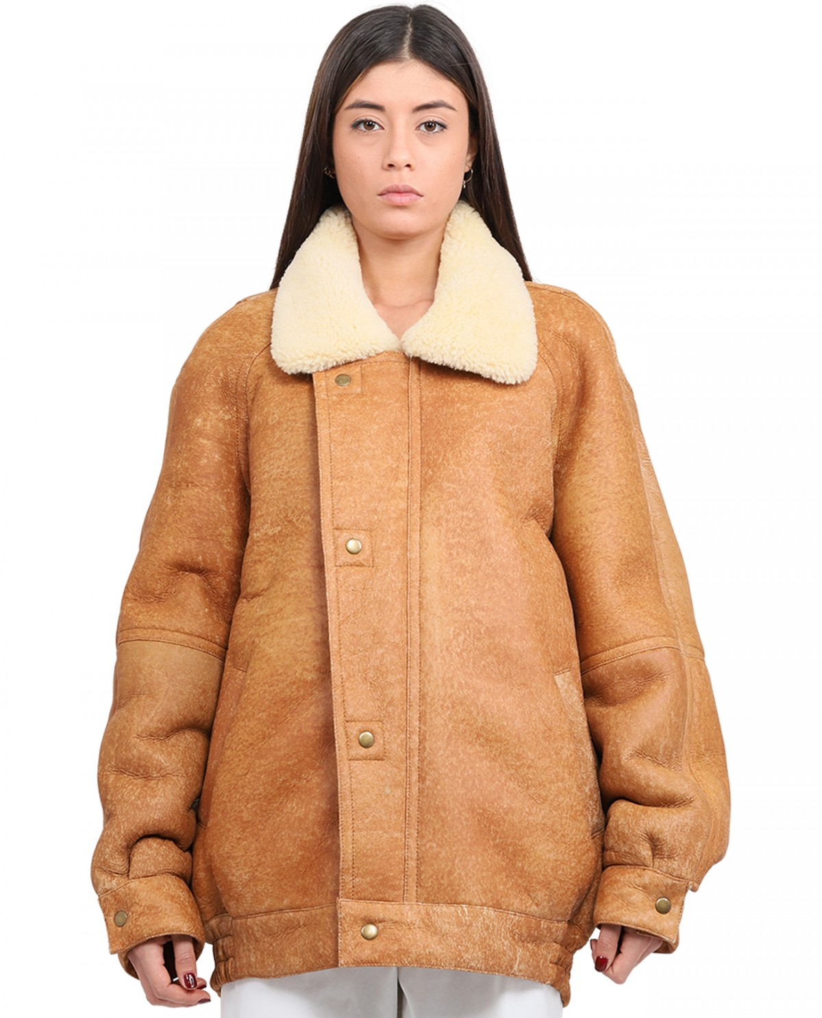 COOL T.M. brown shearling coat