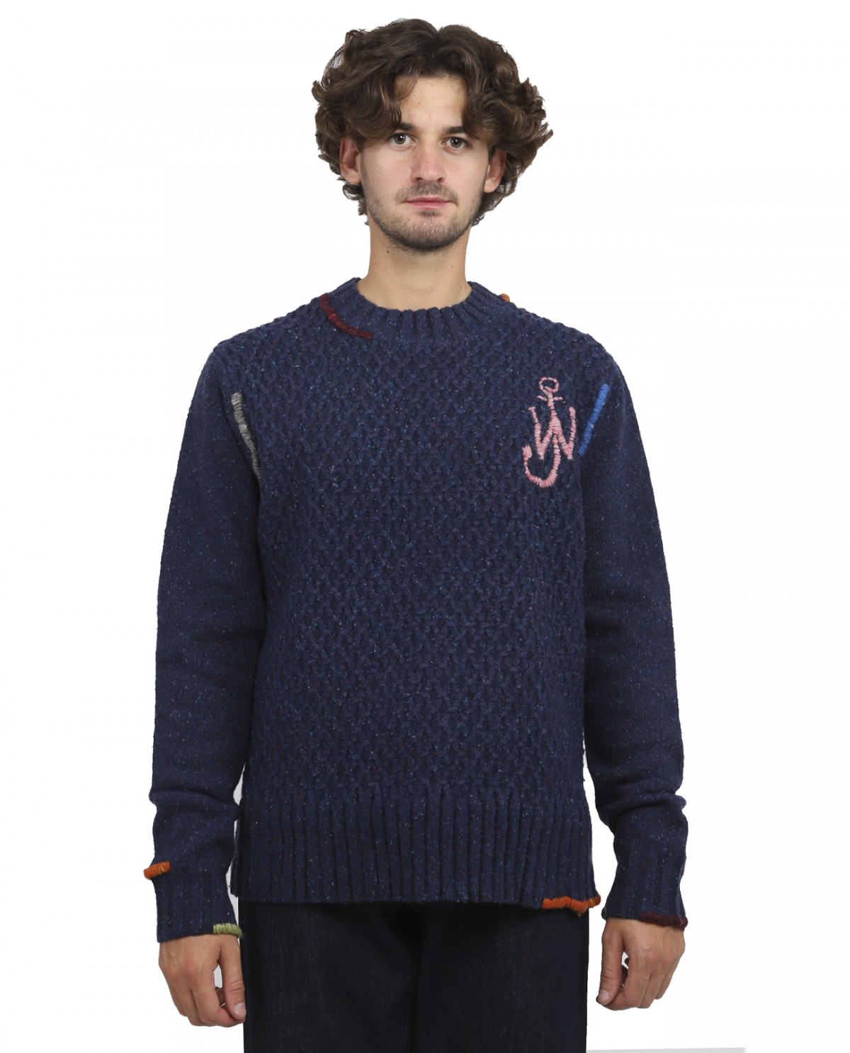 JW Anderson navy darning sweater