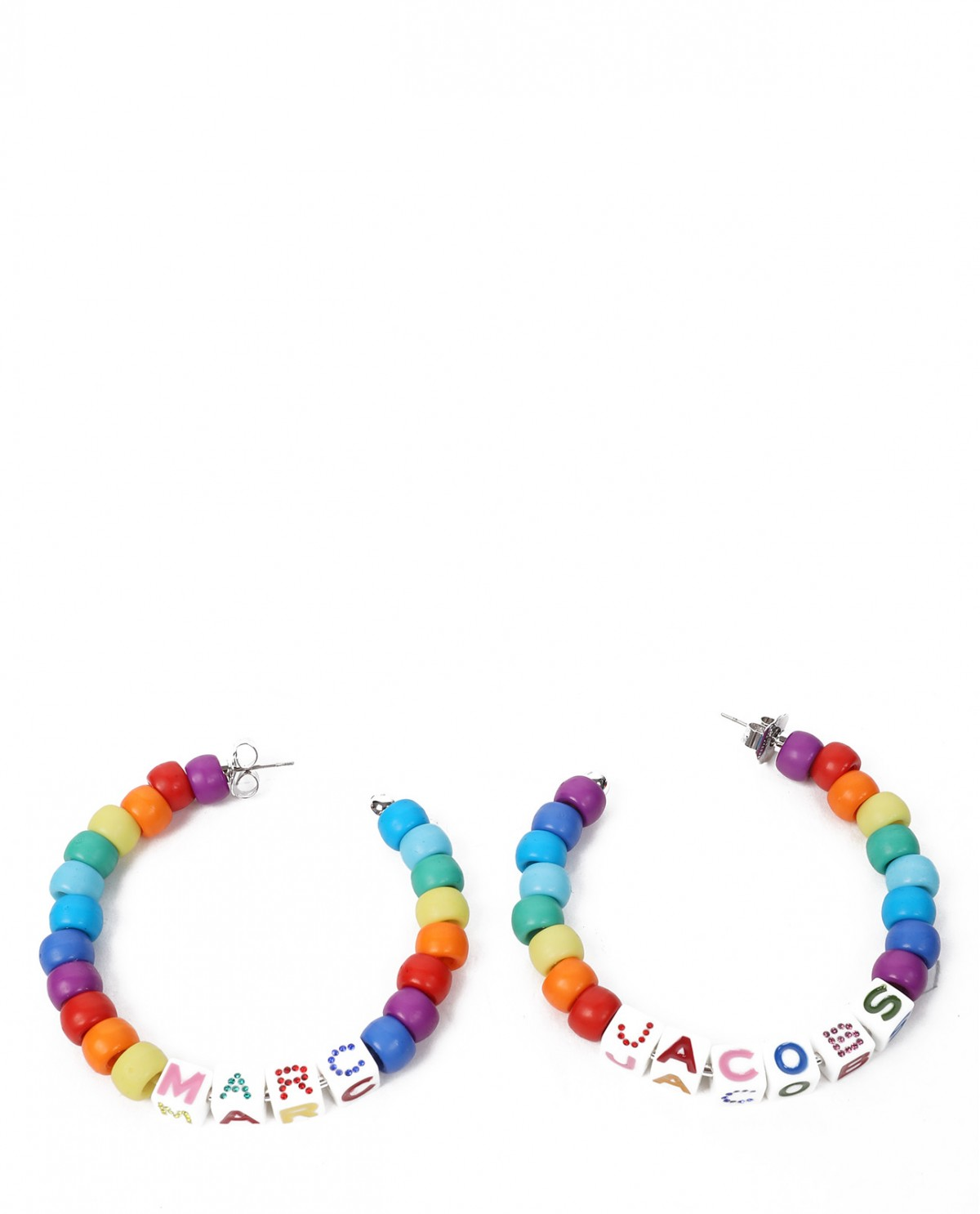 Marc Jacobs Toy Block beaded hoops