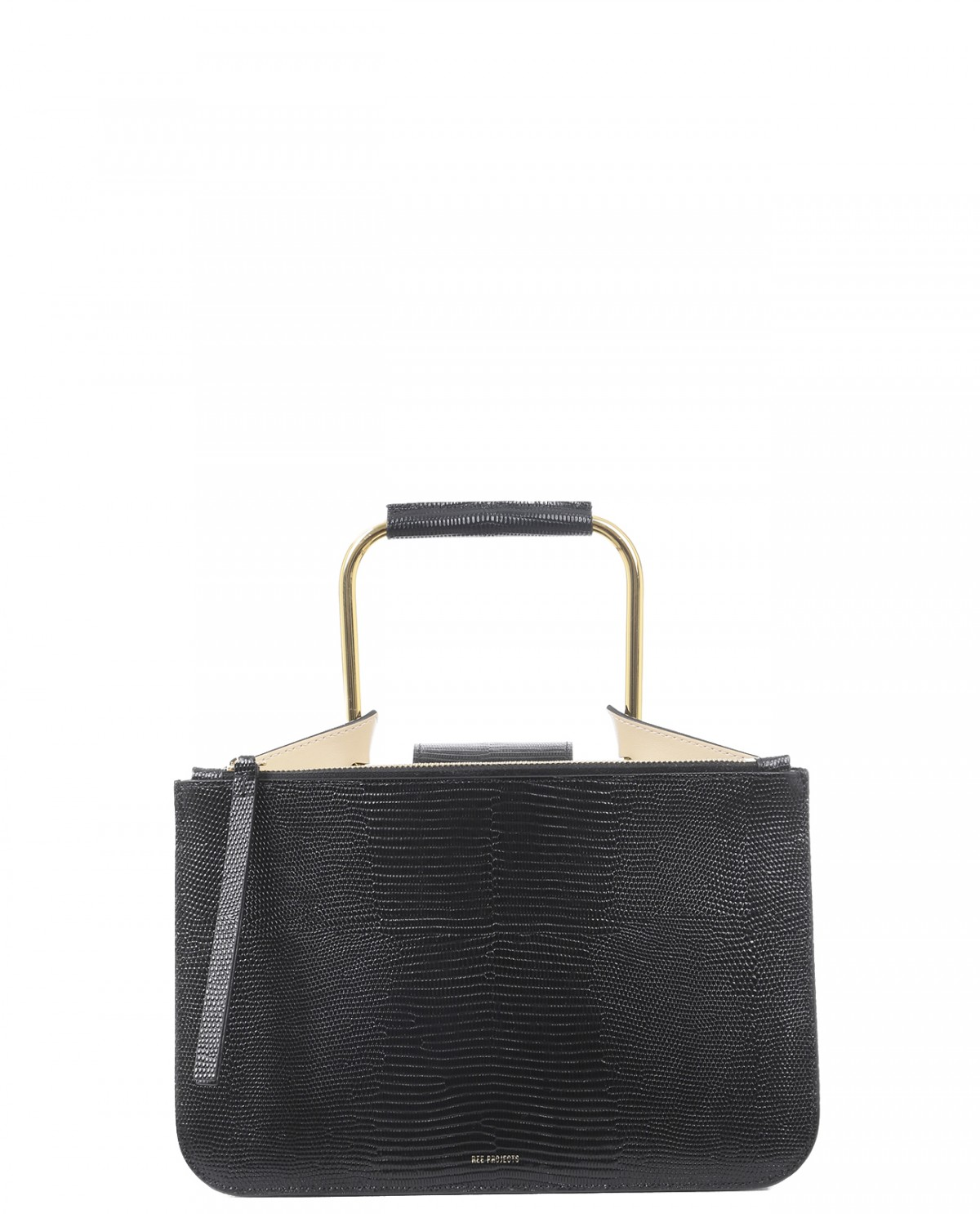 Ree Projects black lizard Tess bag