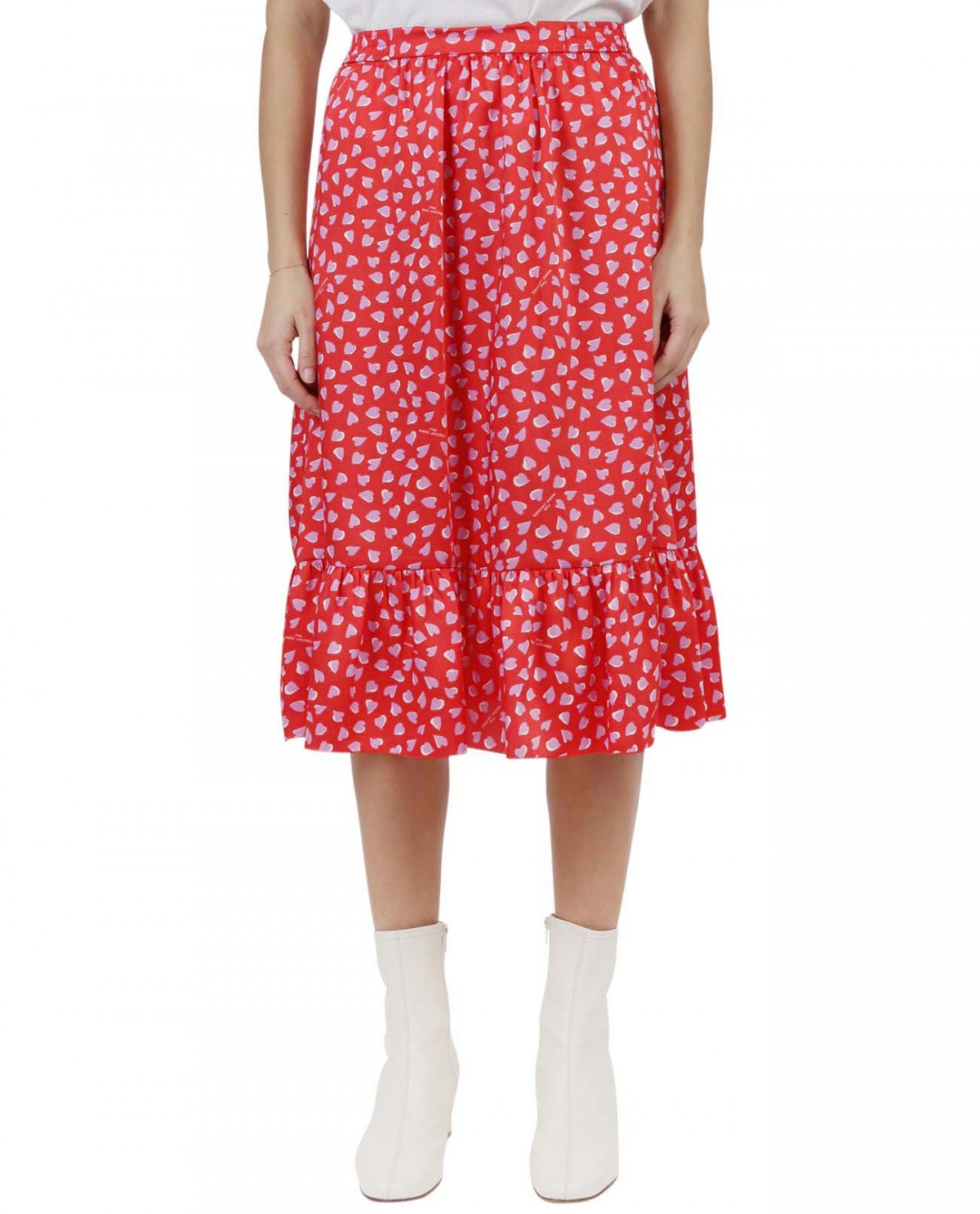 The Marc Jacobs red Heart skirt