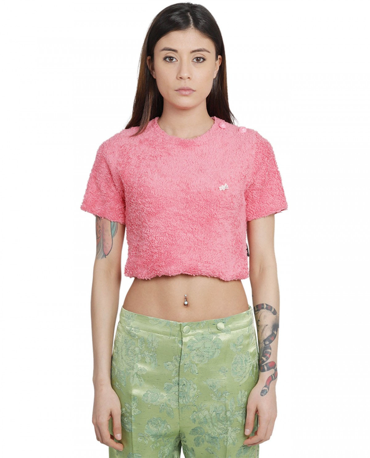 Cool T.M pink cropped top