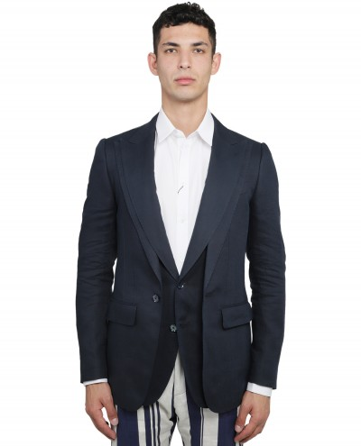 Dolce & Gabbana navy three-piece suit