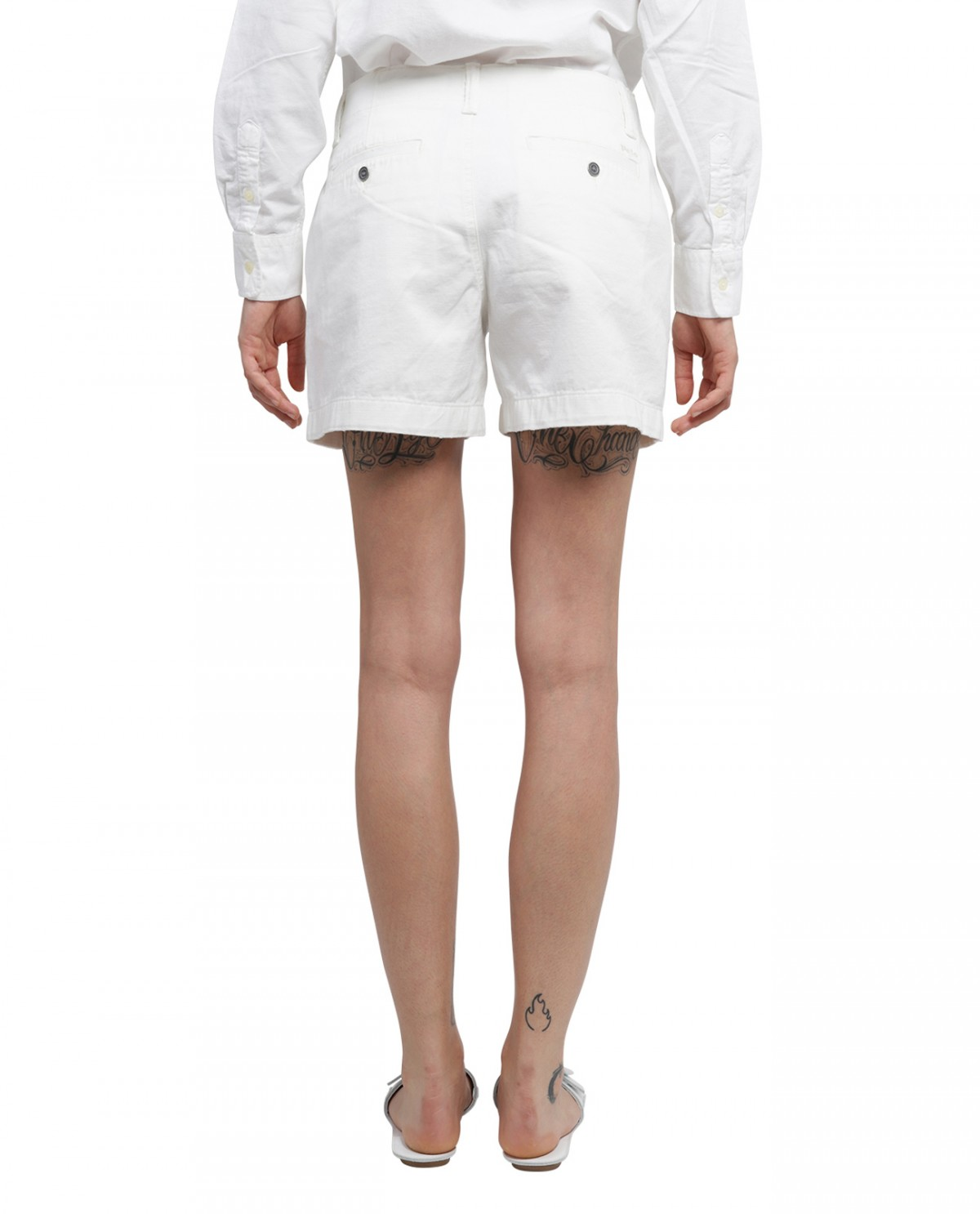 Rick Owens white lo-top sneakers