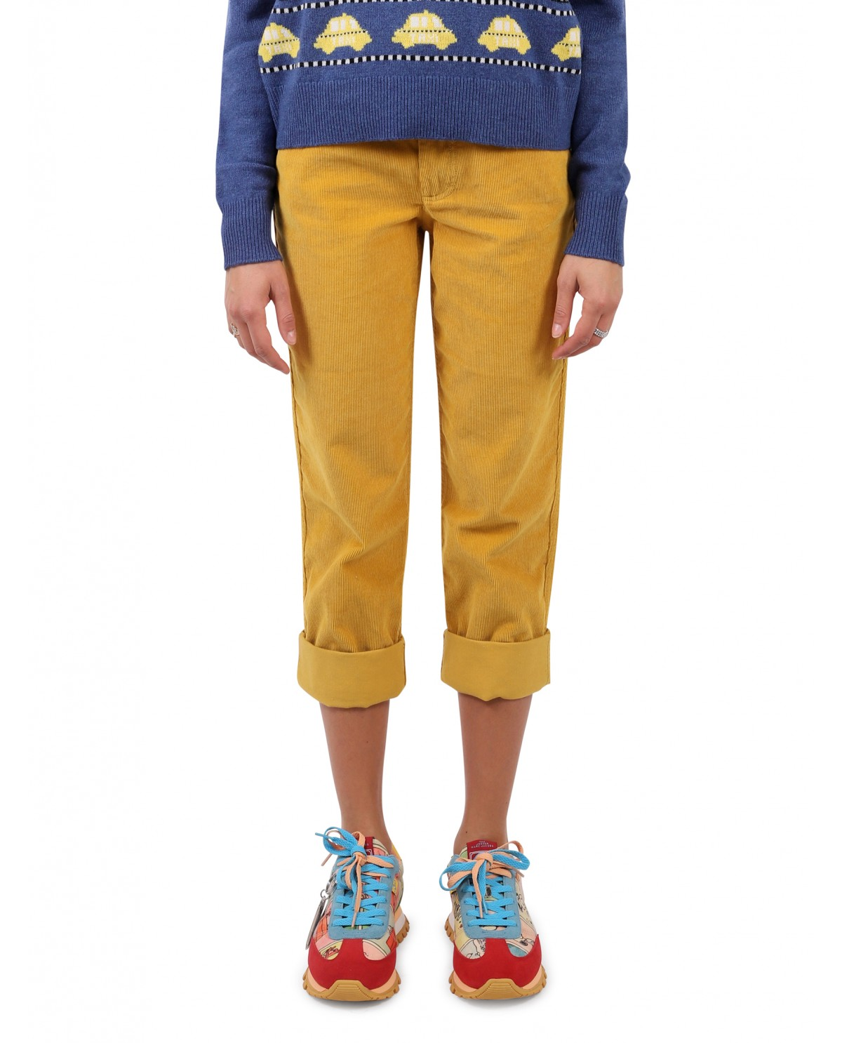 Marc Jacobs yellow turn-up jeans
