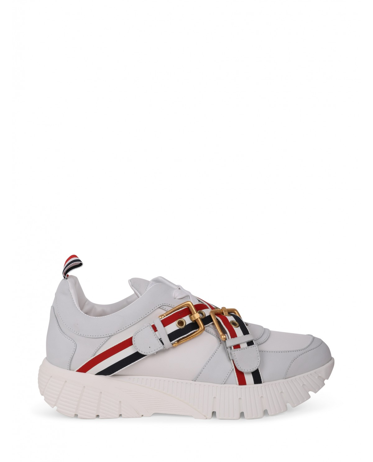 Thom Browne white strap sneakers