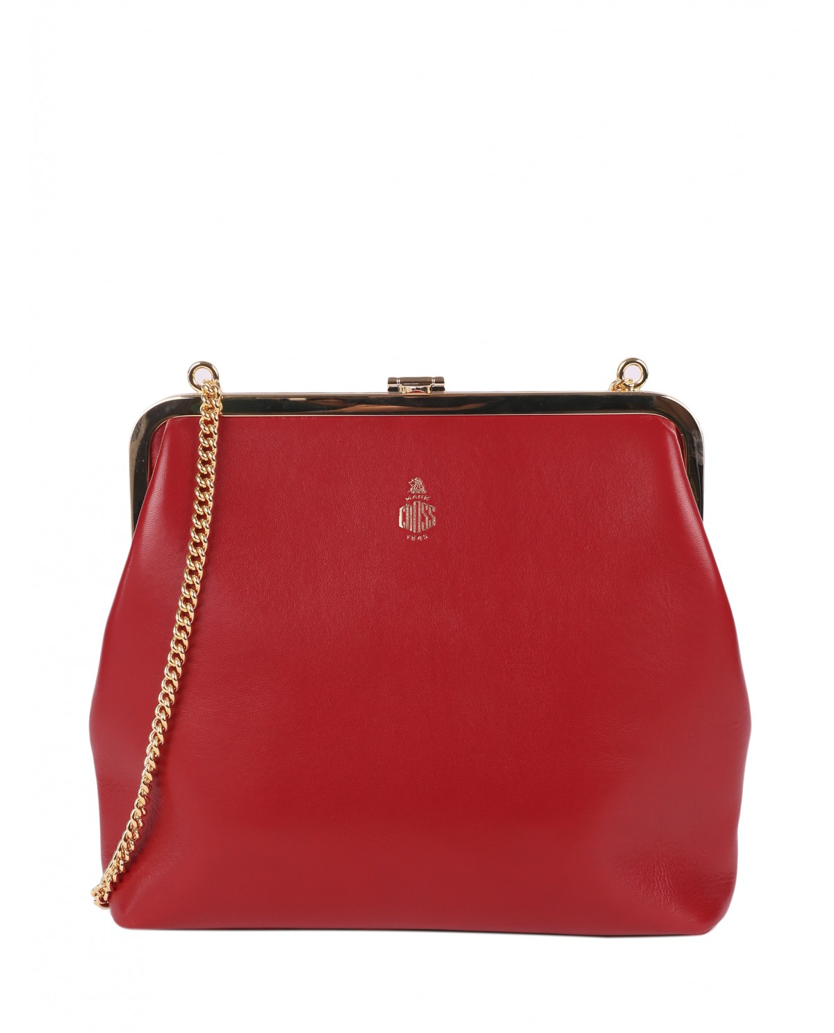 Mark Cross red Susanna Frame Pouch bag