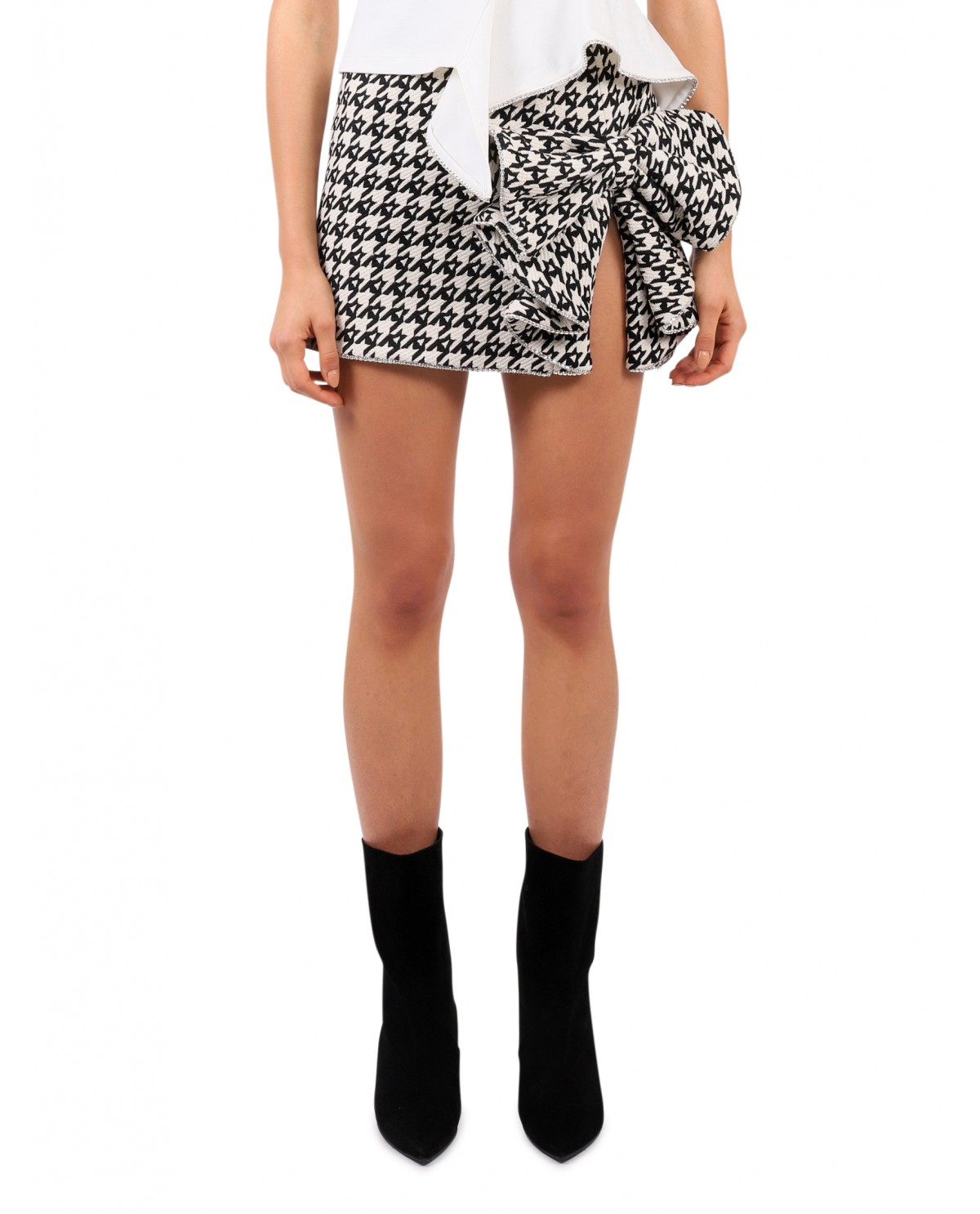 Area houndstooth Bow skirt